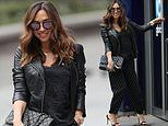 Myleene Klass puts on effortlessly chic display in all black outfit as she arrives at Global Radio
