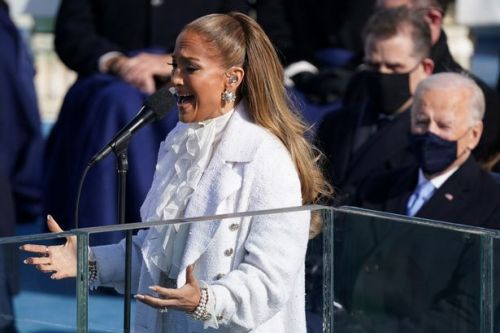 Jennifer Lopez's passionate Spanish message as she sings at Biden inauguration