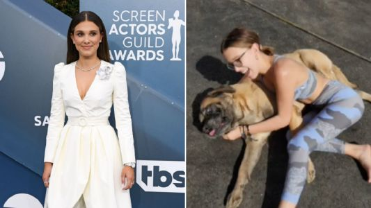 Stranger Things star Millie Bobby Brown's 'heart is broken' after death of family dog Dolly