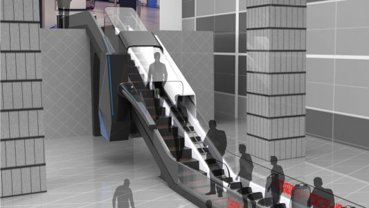 Designers share concept for airport security escalator