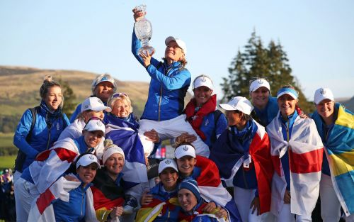Europe's Suzann Pettersen sinks dramatic final putt to secure Solheim Cup triumph over USA