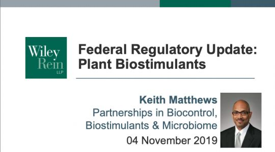 A look back at 2019's Federal Regulatory Update on Plant Biostimulants