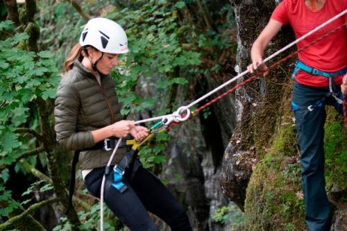 Kate Middleton goes abseiling and mountain biking in action packed Cumbria trip