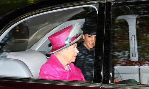 Kate Middleton and Prince William accompany the Queen to church - ALL the pictures