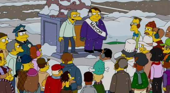 The Simpsons either made a big blunder in Christmas episode or fans have spotted time travelling clue
