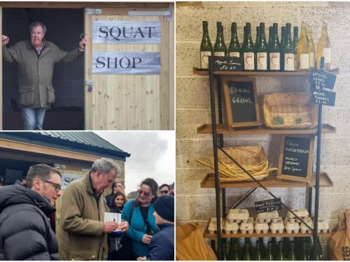 Jeremy Clarkson throws open doors to his new farm shop
