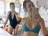 Kate Hudson, 41, shows off her sizzling figure as she models swimwear from pal Sara Foster's line