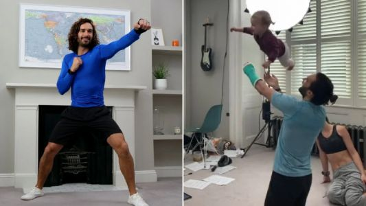 Joe Wicks plays with daughter Indie in adorable post work-out clip as wife Rosie Jones belts out Beyonce