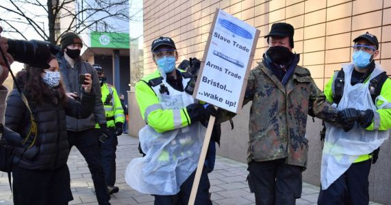 Four arrested in court protest ahead of Colston statue toppling hearing