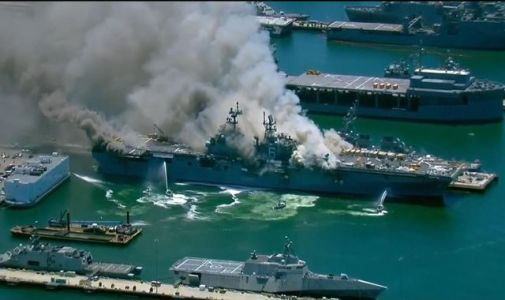 San Diego: Several sailors injured in explosion on US military ship Bonhomme Richard