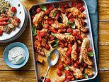 Summer savers: Chicken and cherry tomato tray bake