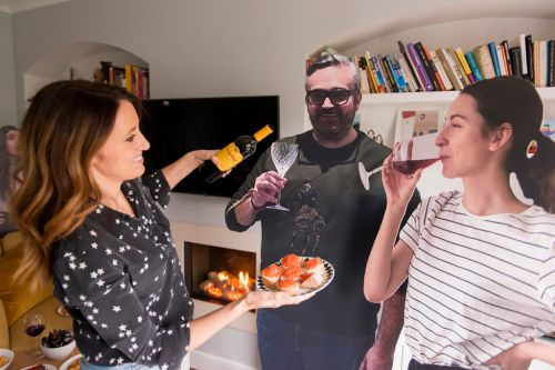 Wine brand gives away life-sized cardboard cutouts of friends with orders