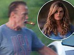 Arnold Schwarzenegger and Maria Shriver look every inch proud grandparents as they visit Katherine
