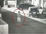 Chilling moment father, 24, abandons his newborn baby next to a public bin