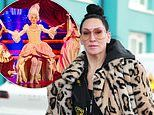 Michelle Visage, 51, poses up a storm in Blackpool in a leopard print coat amid BBC bust-up