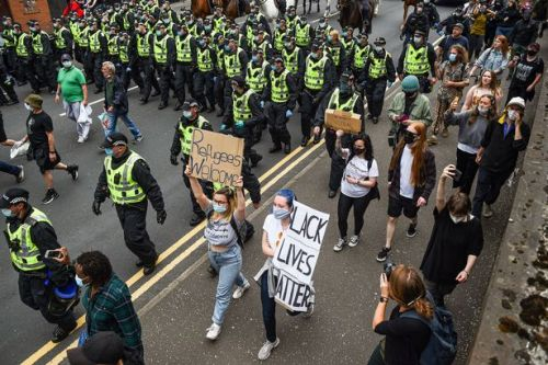 Cops cannot treat peaceful protesters like hooligans using excessive force