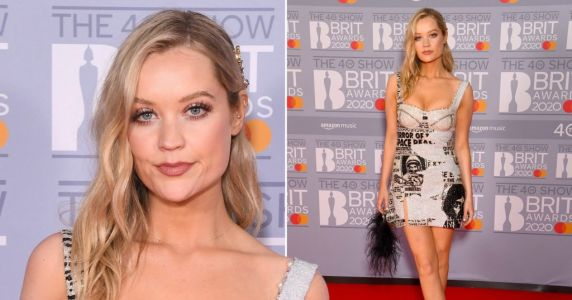 Brits 2020: Laura Whitmore stuns on red carpet in cool glitter mini dress and tells fans: 'Sometimes you just need to put on your dancing shoes'