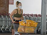 Ferne McCann showcases her incredible abs as she heads to her local supermarket