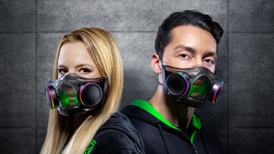 Razer's high-tech face mask is now on sale, plus you can win a Halo Infinite-themed AMD 6900 XT GPU