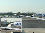 United flight at Newark is evacuated on the tarmac after 'a passenger made a bomb threat on board'