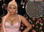 Nicki Minaj addresses the death of George Floyd and racial injustice in powerful statement