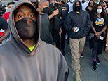 Kanye West joins protestors rallying against racial inequality and police brutality