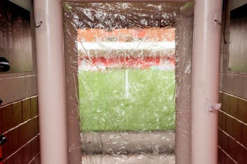 Scottish football club sets up disinfectant tunnel for players at stadium