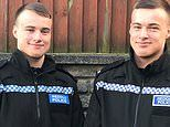Line of duo-ty: Identical teenage twins, 19, fulfil their boyhood dream to join police