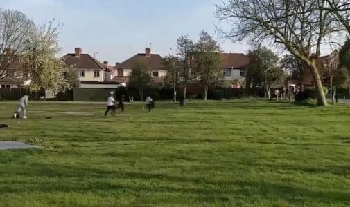 Coronavirus: Men playing cricket in London park run from police as they flout lockdown restrictions