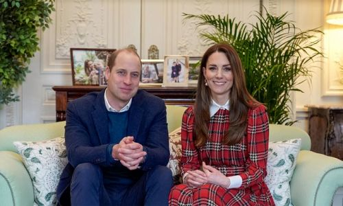Prince William and tartan-clad Kate Middleton make surprise appearance for Burns Night