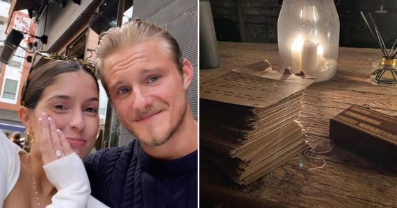 Vikings star Alexander Ludwig engaged to girlfriend Lauren Dear