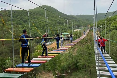 'Startling steps' tourist bridge in China closed as girl falls and breaks spine