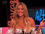 Caroline Flack makes Wes Nelson blush as she brings up Ibiza, while his ex watches from audience
