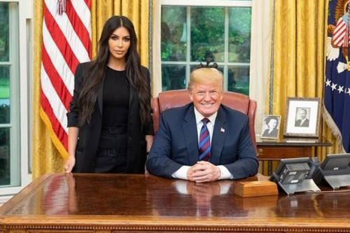 Kim Kardashian snubs Donald Trump as she pays thanks for freedom of Chris Young