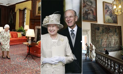 Inside the Queen and Prince Philip's stunning Scottish home, the Palace of Holyroodhouse