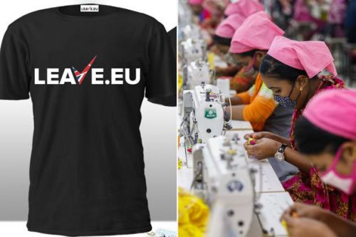 Leave.EU T-shirts made in Bangladesh by workers paid just 39p per hour