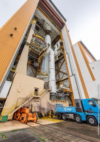 Photos: Ariane 5 rocket rolled out for first launch of 2020