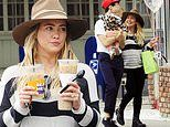 Hilary Duff is a stylish mom as she enjoys family outing with fiance Matthew Koma and daughter Banks