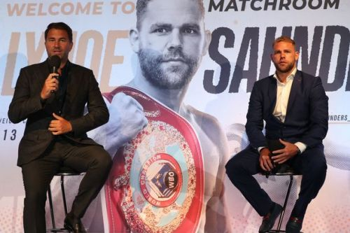 "Hearn ""appalled"" by Saunders video appearing to show men how to hit women"