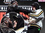 Deontay Wilder and Tyson Fury shove each other as tensions spill over at final press conference