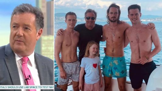 Piers Morgan's youngest son has shown 'mild symptoms' of coronavirus