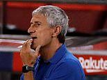 Quique Setien admits Barcelona struggled against Espanyol as they 'wait' to see what Real Madrid do