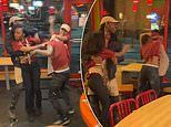 Seven Popeyes workers are fired after massive brawl was caught on camera