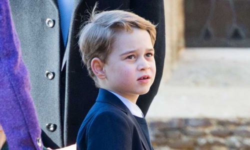 Prince George looks so grown up as he poses for new photo with the Queen, Prince Charles and Prince William