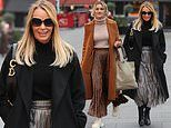 Amanda Holden puts on a chic display as she leaves radio studios