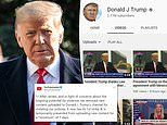 YouTube blocks Donald Trump's account for seven days after he posted video inciting violence