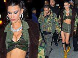 Bella Hadid strips down to racy cropto ring beau The Weeknd's 29th camo themed birthday