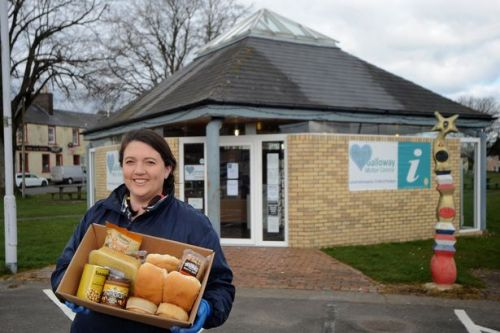 Visitor centre becomes foodbank HQ