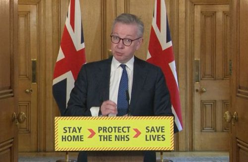Michael Gove Self-Isolating After Family Member Experiences Coronavirus Symptoms