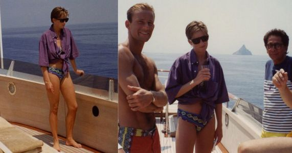 Diana seen smiling on board yacht in never-before-seen pictures
